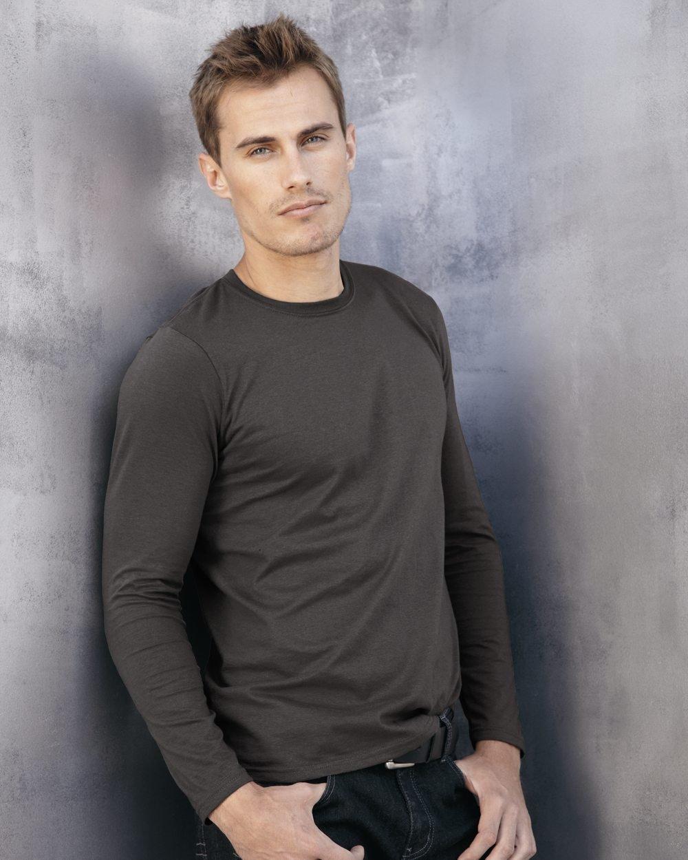 Gildan Softstyle 4.5 oz BLACK G644 Long-Sleeve T-Shirt