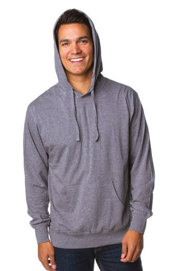 9f8e2f8261 ... Independent Trading Co Mens Lightweight Jersey Hooded Pullover Male Grey
