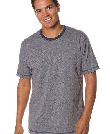 812e6eeb0a3b7 Independent Trading Co Mens Short Sleeve Reversible TShirt Male Blue and  Grey 2