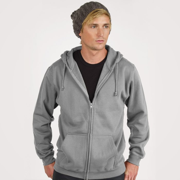 Pima Heavy Weight Fleece Zip-up Hoodie - Evan Webster INK