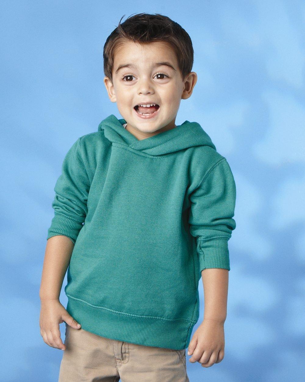 4075499d Rabbit Skins Toddler Hooded Sweatshirt 3326 - Evan Webster INK