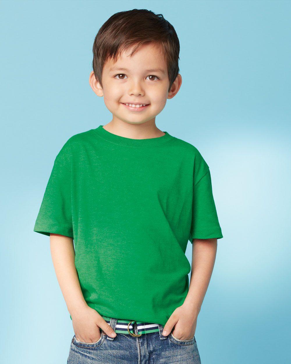 Rabbit Skins Toddler Vintage T Shirt 3305 Evan Webster Ink