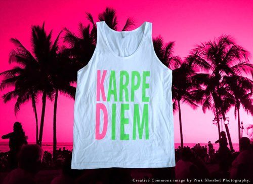 American Apparel neon ink screen printing sorority