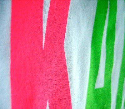 American Apparel neon ink screen printing sorority zoom