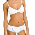 American Apparel Cotton Spandex Jersey Boy Brief Female White