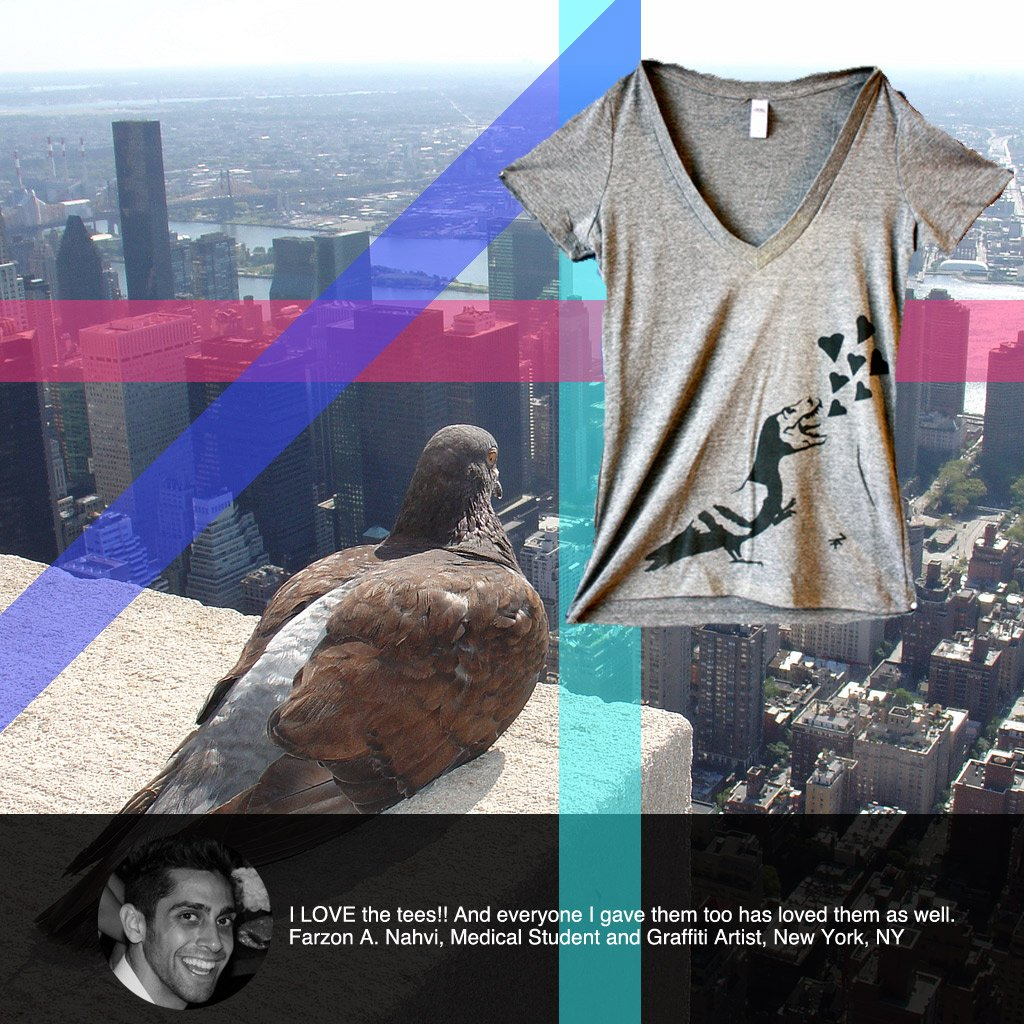 custom screen printed t-shirts with graffiti art new york city