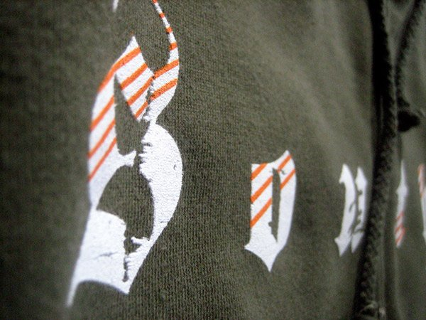 crossfit southie custom screen printed zip hoodie