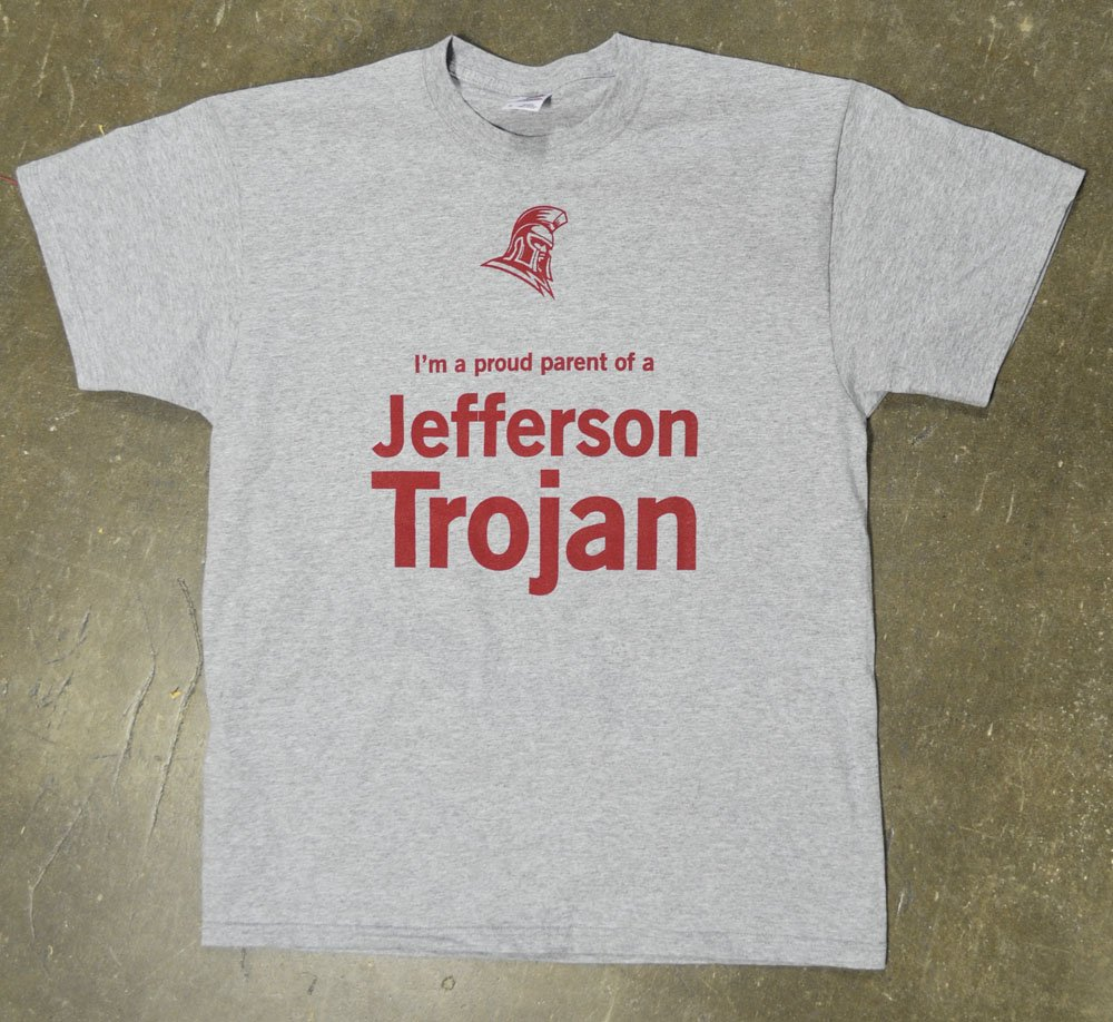 Jefferson academy trojans screen printed t shirts for T shirts printing washington dc