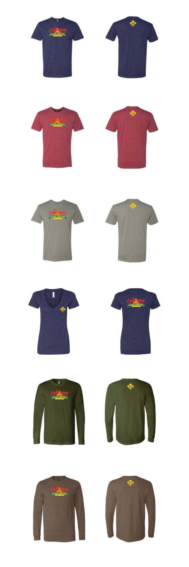 advance music burlington vt custom t-shirts screen printing