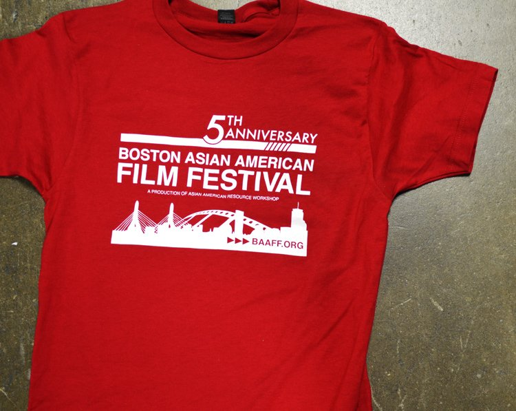 boston asian american film festival screen printed t-shirt