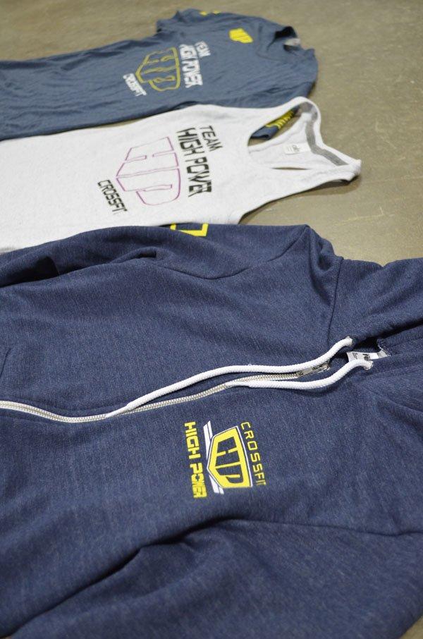crossfit high power screen printed triblend t-shirts tanks hoodies american apparel angle