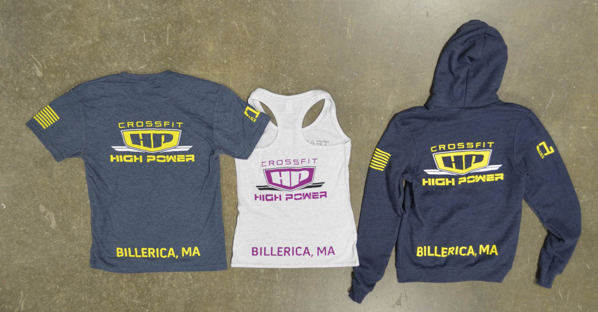 crossfit high power screen printed triblend t-shirts tanks hoodies american apparel back