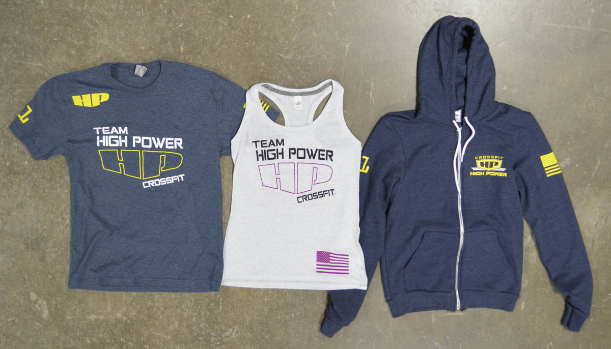 crossfit high power screen printed triblend t-shirts tanks hoodies american apparel