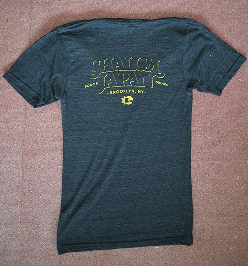 shalom japan triblend american apparel tee black