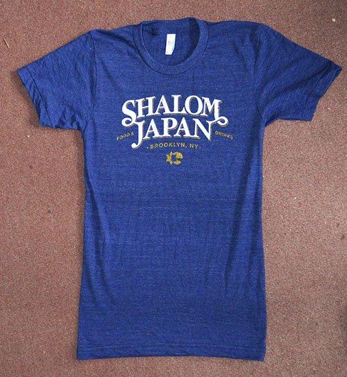 shalom japan triblend american apparel tee indigo
